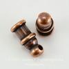 "Концевик для шнура 2 мм TierraCast ""Pagoda"" (цвет-античная медь) 10х4 мм ()"