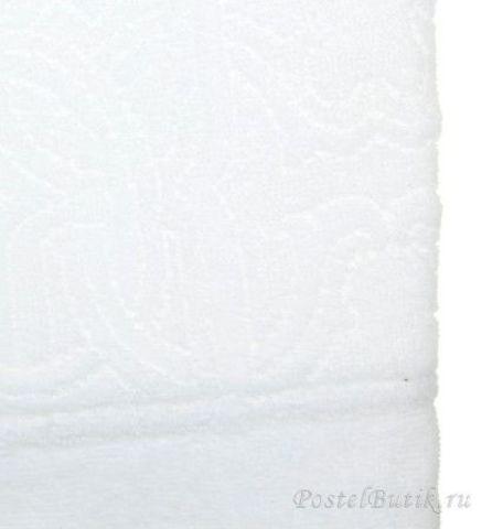 Элитный халат велюровый Logo с капюшоном белый от Roberto Cavalli