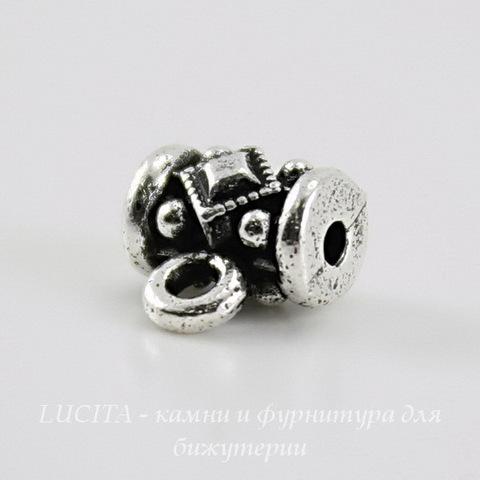 """Бейл TierraCast """"Ромб"""" 8х8х5 мм (цвет-античное серебро) ()"""