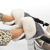 Муфта - рукавички Esspero Christer для коляски (Натуральная шерсть) Grey