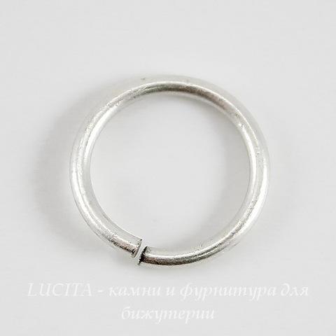 Винтажное колечко одинарное 12х1,2 мм (оксид серебра)
