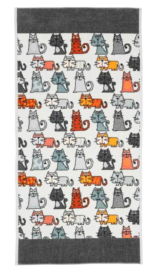 Полотенца Полотенце 37x50 Feiler Cats 215 schiefer elitnoe-polotentse-shenillovoe-cats-215-schiefer-ot-feiler-germaniya.jpg