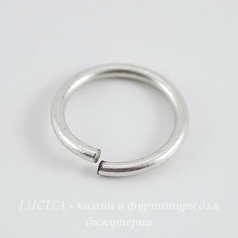 Винтажное колечко одинарное 12х1,2 мм (оксид серебра) ()