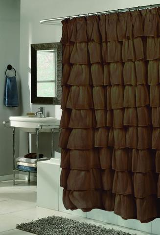 Элитная шторка для ванной Carmen коричневая от Carnation Home Fashions