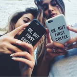 Чехол для iPhone 7+/7/6s+/6s/6+/6/5/5s/5с/4/4s  OK, BUT FIRST COFFEE