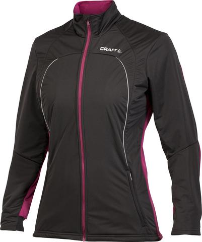 Лыжная куртка Craft Storm женская черно-вишнёвый