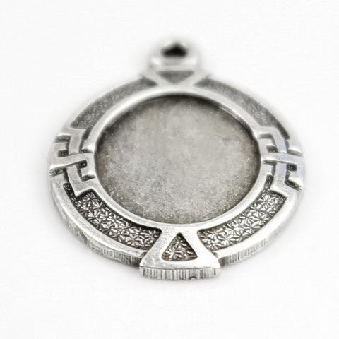 """Сеттинг - основа - подвеска """"Египет"""" для камеи или кабошона 10х8 мм (оксид серебра) ()"""