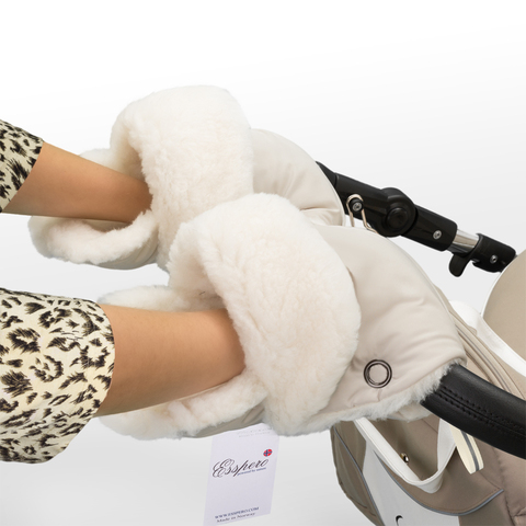 Муфта - рукавички Esspero Christer для коляски (Натуральная шерсть)