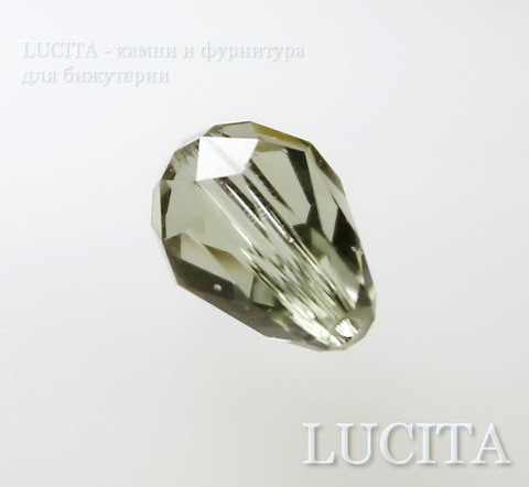 5500 Бусина - капля Сваровски Black Diamond 9х6 мм ()