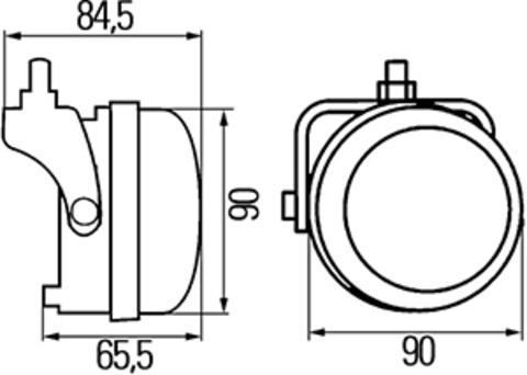 Фары дневного света светодиодные Hella 2PT 009 599-801
