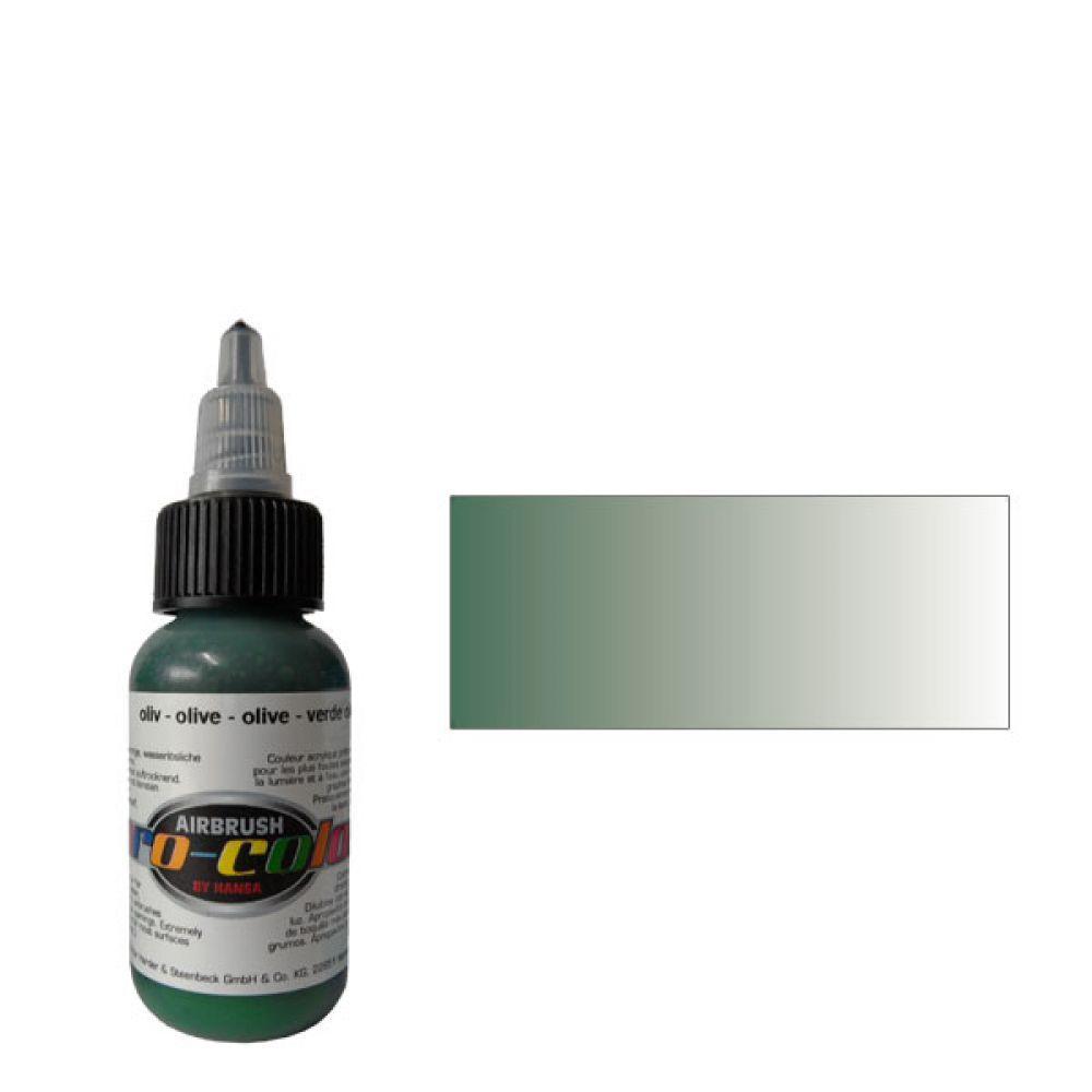 60018 Краска для аэрографии Pro-Color Olive (ОЛИВКОВЫЙ) 30мл. укрывистый