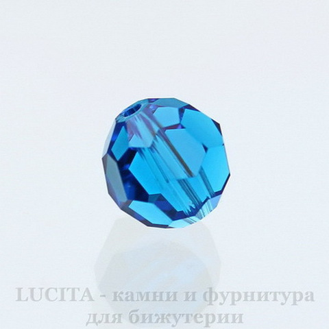 5000 Бусина - шарик с огранкой Сваровски Capri Blue 10 мм ()