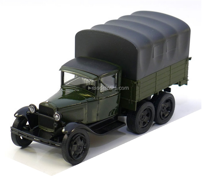 GAZ-AAA with awning green-black 1:43 Nash Avtoprom
