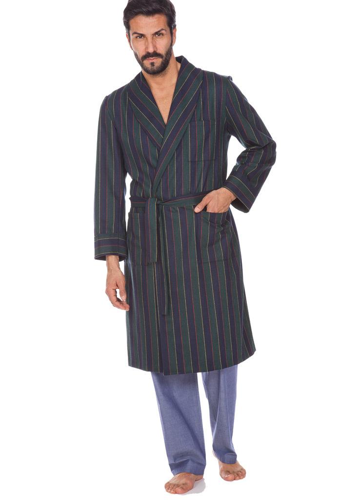 Легкий халат из шерсти B&B (Мужские халаты)