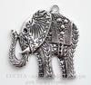 "Подвеска ""Слон"" (цвет - античное серебро) 47х44 мм"