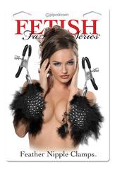 Металлические зажимы для сосков - Feather Nipple Clamps