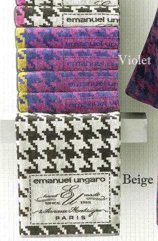 Полотенце 95х150 Emanuel Ungaro Pied-de-Poul черное