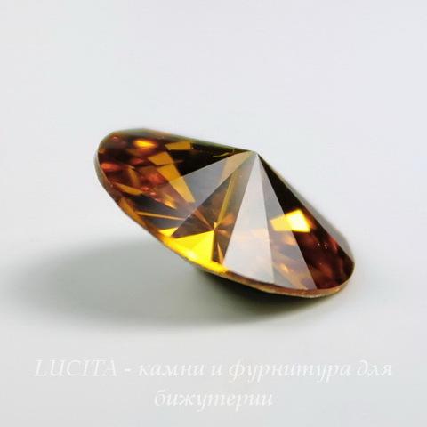 1122 Rivoli Ювелирные стразы Сваровски Topaz (12 мм) ()