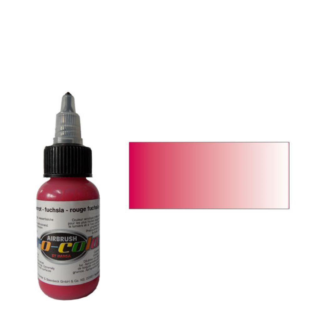 64072 Краска для аэрографии Pro-Color Fuchsia (ФУКСИЯ) 30мл. прозрачный