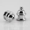 "Концевик для шнура 6 мм TierraCast ""Pagoda"" (цвет-платина) 13х10 мм ()"