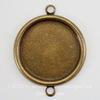 Сеттинг - основа - коннектор (1-1) для камеи или кабошона 18 мм (оксид латуни) ()
