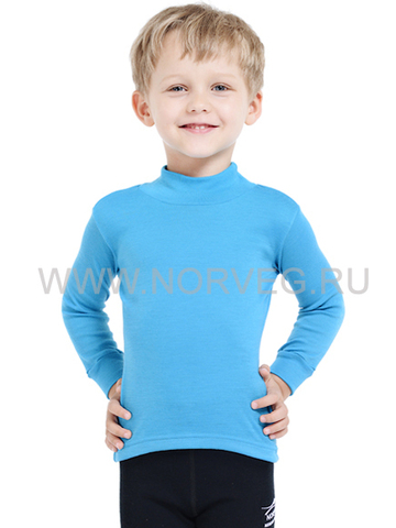Терморубашка Norveg Soft City Style детская с длинным рукавом голубая