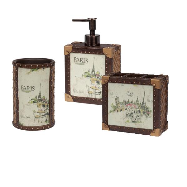 Наборы аксессуаров Набор из трёх элитных аксессуаров для ванной I Love Paris от Creative Bath nabor-iz-tryoh-elitnyh-aksessuarov-dlya-vannoy-i-love-paris-ot-creative-bath-ssha-kitay.jpg