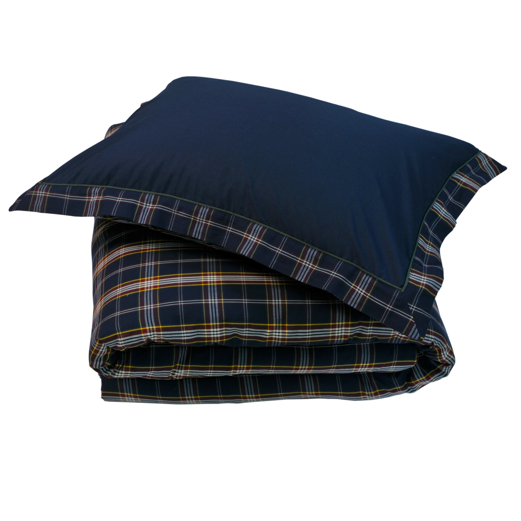 Комплекты Постельное белье 2 спальное евро Casual Avenue Oxford Navy Tartan темно-синее elitnoe-postelnoe-belie-oxford-navy-tartan-deep-blue-ot-casual-avenue-turtsiya.jpg