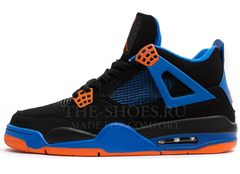 Кроссовки Мужские Nike Air Jordan 4 Retro Black Blue Orange
