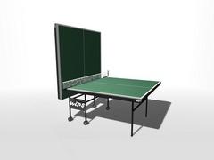 Теннисный стол влагостойкий, на роликах с усилением игрового поля WIPS СТ-ВРУ (61041)