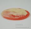 """Камея """"Колесница"""" на розовом фоне 40х30 мм ()"""