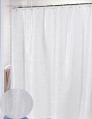 Шторка для ванной 178x183 Carnation Home Fashions Damask Ivory
