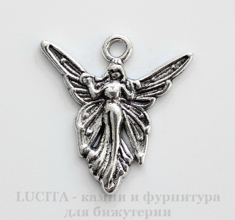 "Подвеска ""Королева фей"" (цвет - античное серебро) 20х19 мм"