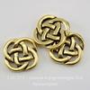 """Коннектор TierraCast """"Кельтский узел"""" (2-2) 10х10 мм (цвет-античное золото) ()"""