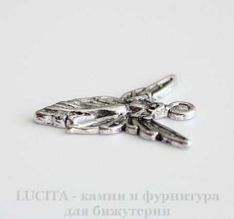 "Подвеска ""Королева фей"" 20х19 мм (цвет - античное серебро)"