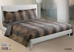 Постельное белье 2 спальное евро Roberto Cavalli Volpe коричневое