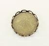 Сеттинг - основа для камеи или кабошона 13 мм (оксид латуни)