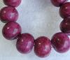 Бусина Хризоколла (тониров), рондель, цвет - пурпурный, 20х15  мм