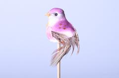 Декор птичка сиреневая