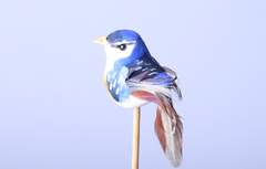Декор птичка синяя
