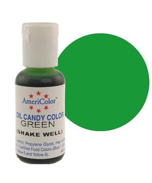 Краска для шоколада AmeriColor  GREEN, 19 гр.