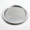"""Сеттинг - основа - подвеска """"Плетенка"""" для камеи или кабошона 41х31 мм (оксид серебра) ()"""