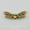 """Бусина TierraCast """"Крылья стрекозы"""" 20х7 мм (цвет-античное золото) ()"""