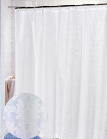 Элитная шторка для ванной Damask White от Carnation Home Fashions