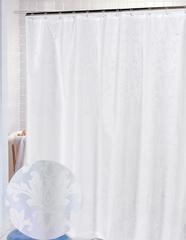 Шторка для ванной 178x183 Carnation Home Fashions Damask White