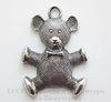 "Подвеска ""Мишка"" (цвет - античное серебро) 70х51 мм"
