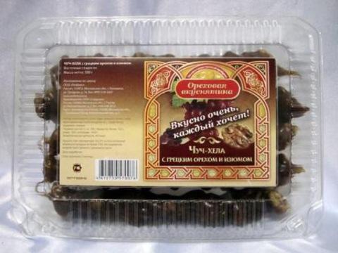 Чуч-хела Ореховая вкуснятина с грецким орехом и изюмом, 500г