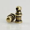 "Концевик для шнура 2 мм TierraCast ""Pagoda"" (цвет-античная латунь) 10х4 мм ()"