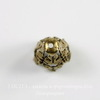 Винтажный декоративный элемент - шапочка - конус 16х11 мм (оксид латуни) ()