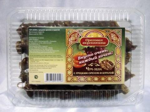 Чуч-хела Ореховая вкуснятина с грецким орехом и курагой, 550г